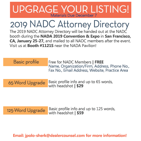 2019 NADC Attorney Directory