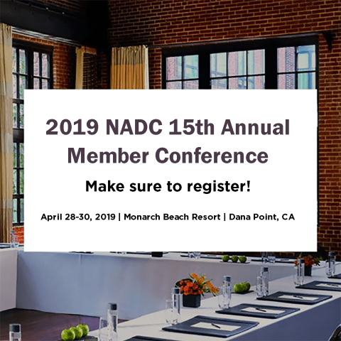 2019 NADC 15th Annual Member Conference